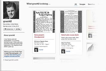 Profile page on Lansing State Journal Archive